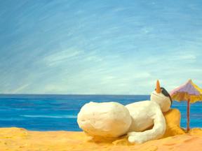 Carotte à la plage