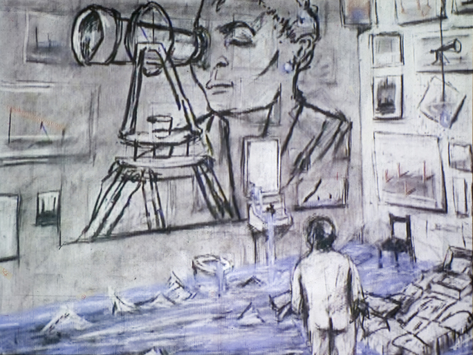 Ten Drawings for Projection : 5. Felix in Exile