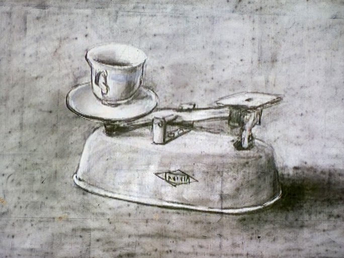 Ten Drawings for Projection : 7. Weighing and  Wanting